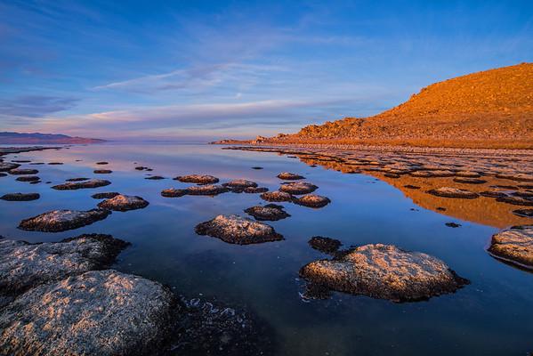 Tufa along the west shorelines of  Lakeside trail