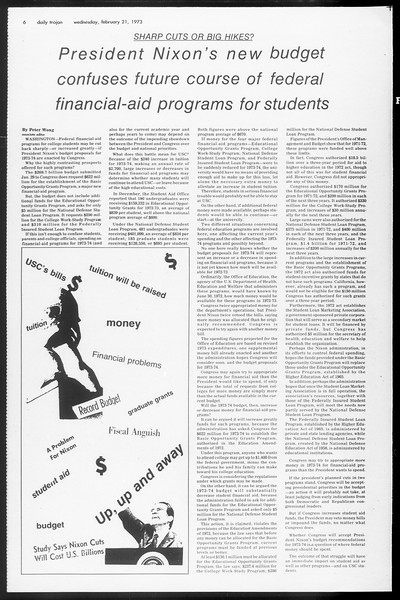 Daily Trojan, Vol. 65, No. 76, February 21, 1973
