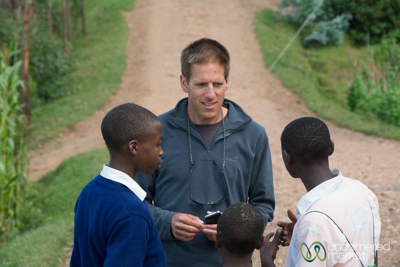 Dan in a Conversation with School Boys - Musanze, Rwanda