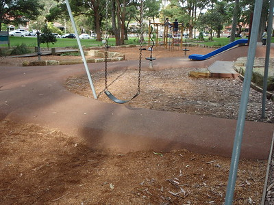 softfall rubber under slide with softfall mulch