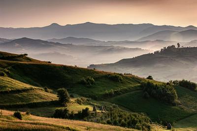 Europe, Romania, Maramures, landscape near Bogdan Voda seen from Bocicoel Pass