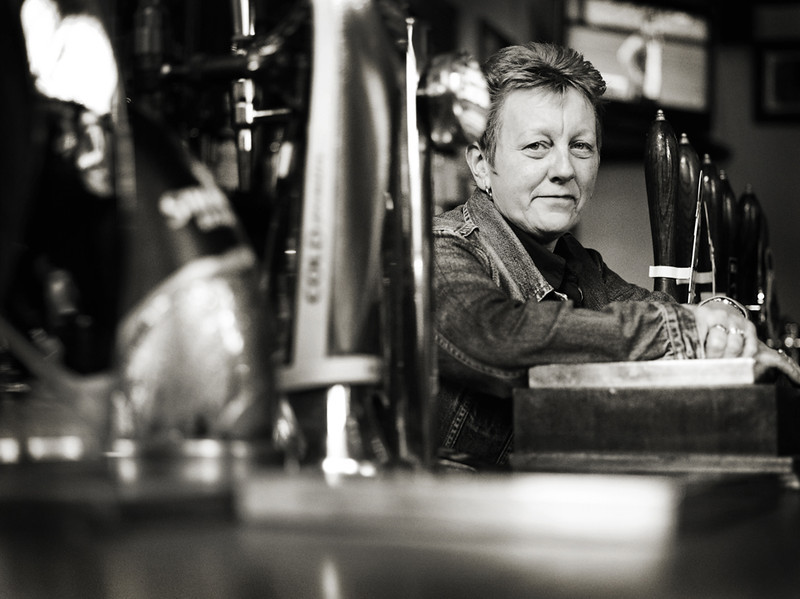 Barmaid # 2 - Mathers Bar - Edinburgh - Street Portrait