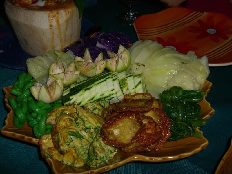 Vegetable Platter Served with Prahok - Phnom Penh, Cambodia