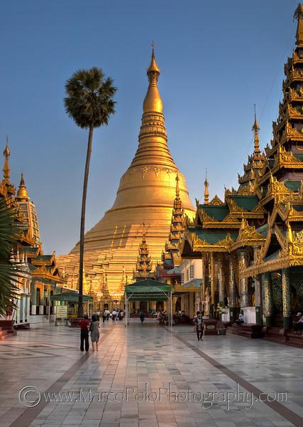 "Shwedagon Pagoda. Yangon. 15"" x 21"""