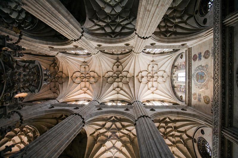 Naves de la Catedral Nueva de Salamanca, España
