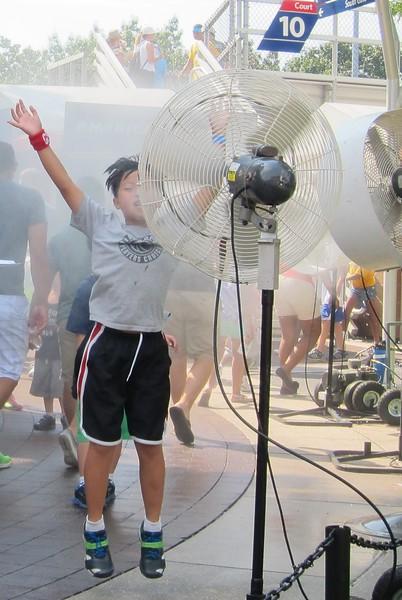 US Open kid fan