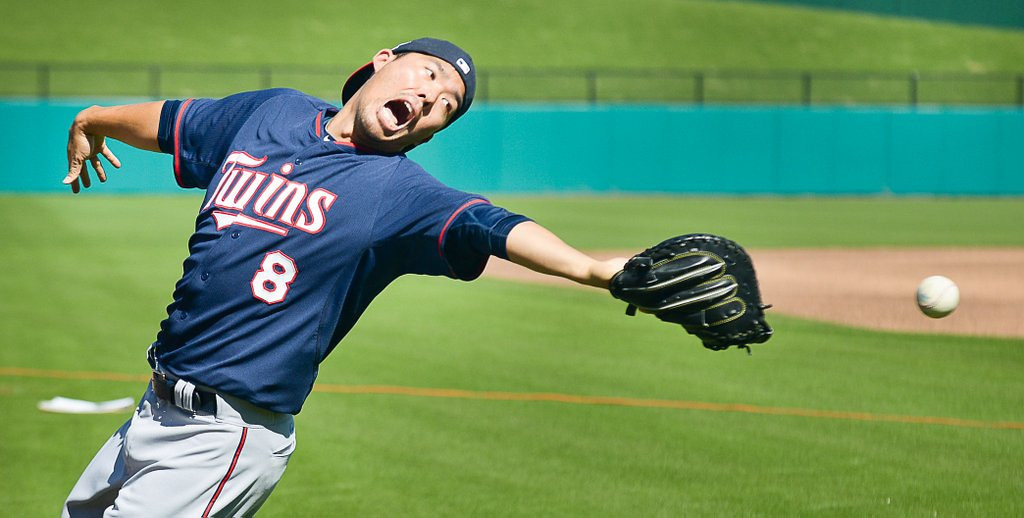 """. <p>5. MINNESOTA TWINS  <p>Looks like they�re already in midseason fail ... uh ... make that midseason form. (unranked) <p><b><a href=\' http://photos.twincities.com/2014/02/17/minnesota-twins-take-to-field-on-day-one-of-spring-training/#1\' target=\""""_blank\""""> HUH?</a></b> <p>   (Pioneer Press: Ben Garvin)"""