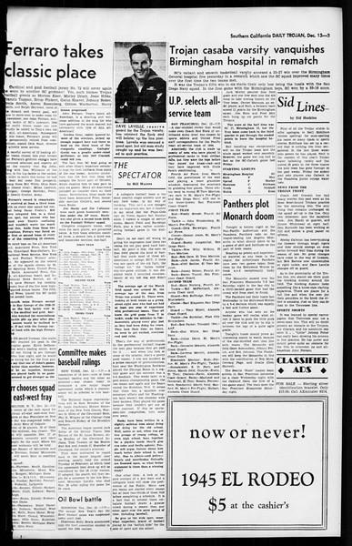 Daily Trojan, Vol. 36, No. 26, December 13, 1944