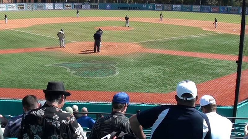 Jackson Geary pitching for Pro MLB Scouts at Coastal Carolina Pro Day exhibition, October 14, 2011