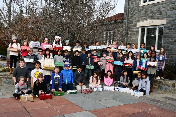 Fourth Graders Prepare Shoebox Gifts for So Others Might Eat