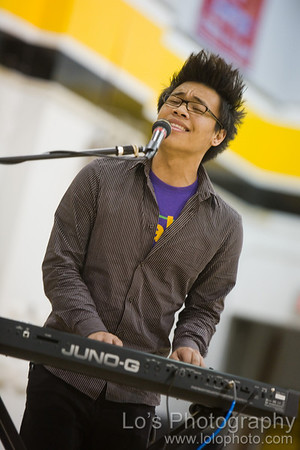 AJ Rafael at Cerritos High Cheer / Dance Team Exhibition