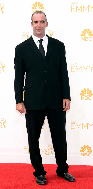 . Rory McCann on the red carpet at the 66th Primetime Emmy Awards show at the Nokia Theatre in Los Angeles, California on Monday August 25, 2014. (Photo by John McCoy / Los Angeles Daily News)