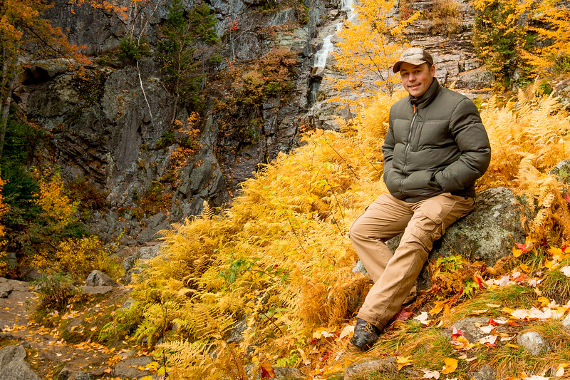 Paul Williams amongst fall colours, White Mountains