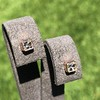 .52ctw Asscher Cut Diamond Bezel Stud Earrings, 18kt Rose Gold 0