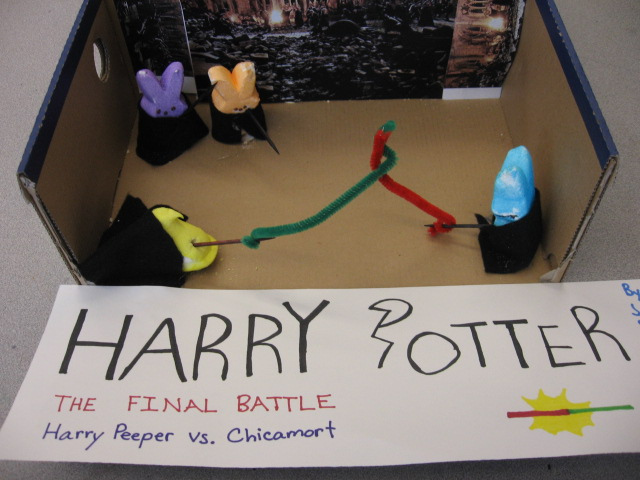 . Entry for the Children\'s Peeps contest, we are all 11 or 12. Aliya Hayes, Abrasia Roque, Jordyn Stapleton