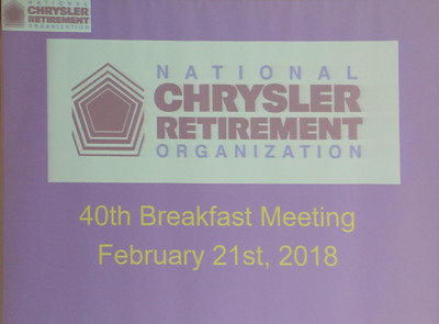 40th Breakfast Meeting  February 21, 2018