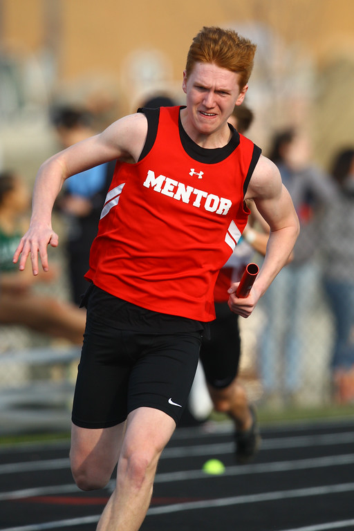 . 2018 - Track and Field - Willoughby South Invitational. 4x200 Meter Relay.  Mentor won in 1:32.30 anchored by Derek Kleinhenz.