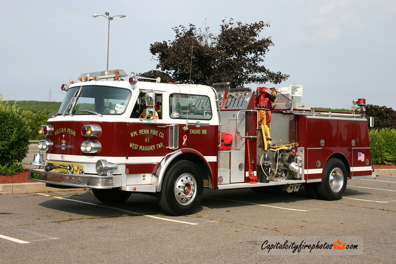 William Penn Fire Co. (West Mahanoy Township) X-Engine 888: 1982 American LaFrance 1500/500 (X-Marcus Hook, PA)