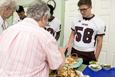 ASRHS football team 9/11 giving back, Sept. 11, 2019
