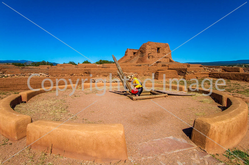 New Mexico - Cyclist at Pecos National Historical Park