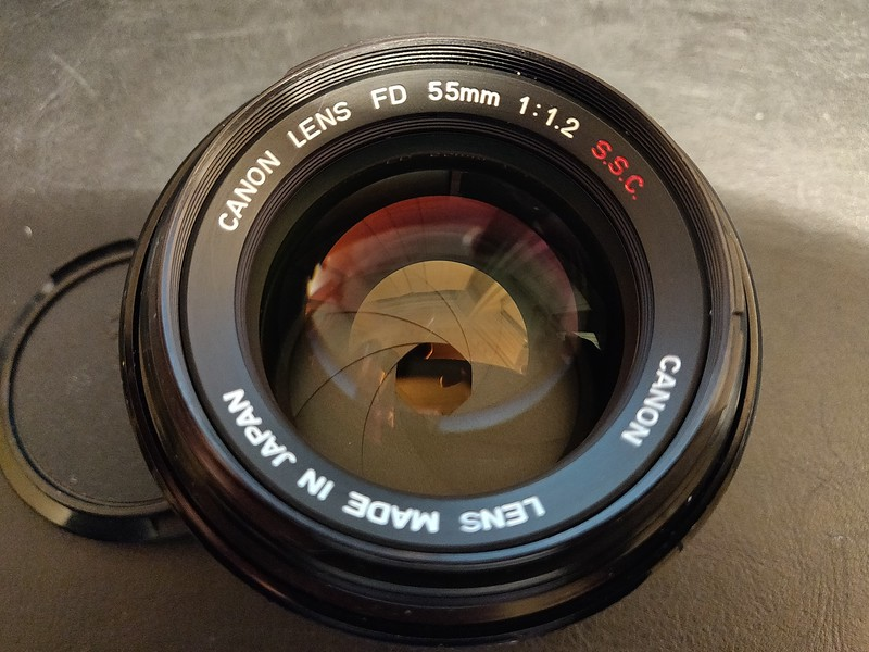 Canon FD 55 1.2 S.S.C. - Serial R408 & 100406 006.jpg