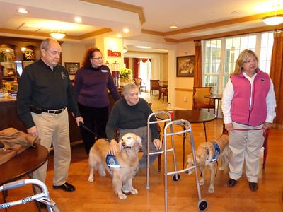 2012-12-04 K-9 Visit to Sunrise Retirement Center