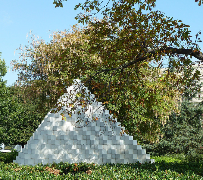 """""""Four Sided Pyramid"""" in the Sculpture Garden at the National Gallery"""