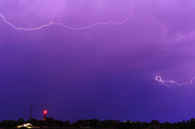 Lightning over Paringa Oval