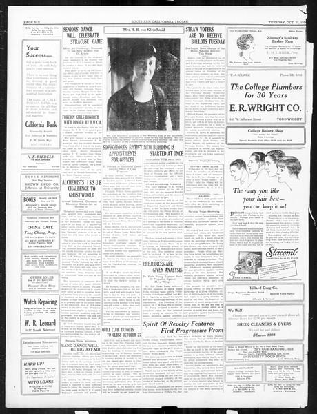 The Southern California Trojan, Vol. 16, No. 14, October 21, 1924