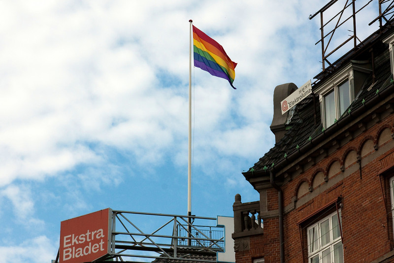 Pride flag at Politikens Hus