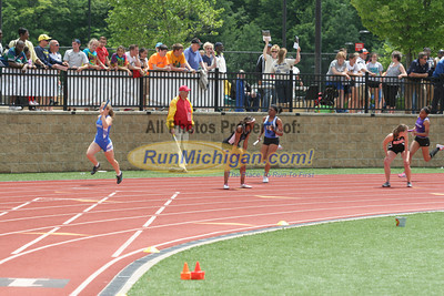 D1 Girls 4x100 Relay - 2013 MHSAA LP Track and Field