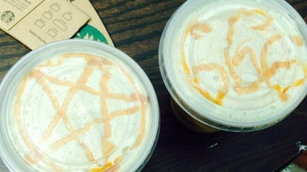 ". <p>10. (tie) STARBUCKS SATANISM <p>Who ordered the Venti Luciferccino? (previous ranking: unranked) <p><b><a href=\'http://www.buzzfeed.com/alanwhite/starbucks-has-apologised-after-a-barista-put-satanic-symbols\' target=""_blank\""> HUH?</a></b> <p>   (Photo from Facebook)"