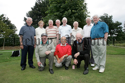 Pictured are participants of Cloughoge Pitch and Putt's senior competition.