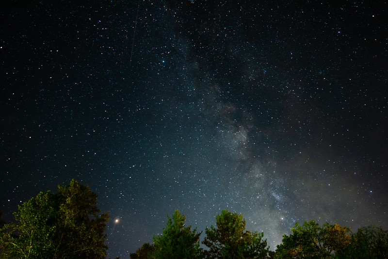 The Milky Way Galaxy seen from Bryson City, September 28, 2018. (Joseph Forzano / Deep Creek Films)