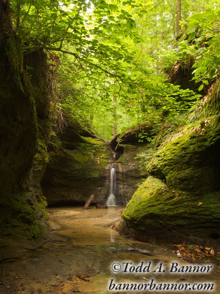 The Punch Bowl Turkey Run State Park Indiana USA.