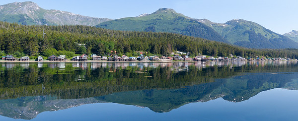 West End Panorama May 2015, Cynthia Meyer, Tenakee Springs, Alaska