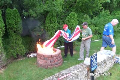 2017 June 14, Flag Retirement Ceremony, Flag Day