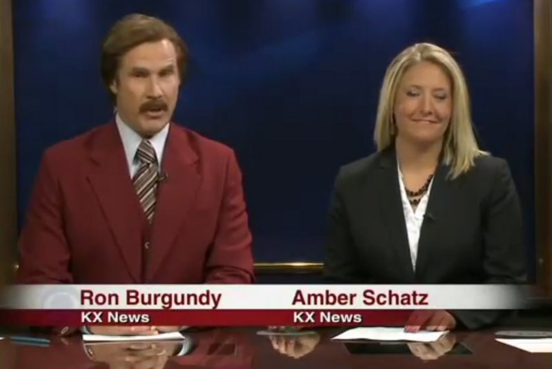 ". <p>5. RON BURGUNDY <p>TV news used to be kind of a big deal. Now, it�s just another excuse for a lame-ass movie plug. (unranked) <p><b><a href=\'http://entertainment.time.com/2013/12/01/watch-ron-burgundy-anchors-a-north-dakota-newscast/\' target=""_blank\""> HUH?</a></b> <p>   (Photo from YouTube / KXMB-TV)"