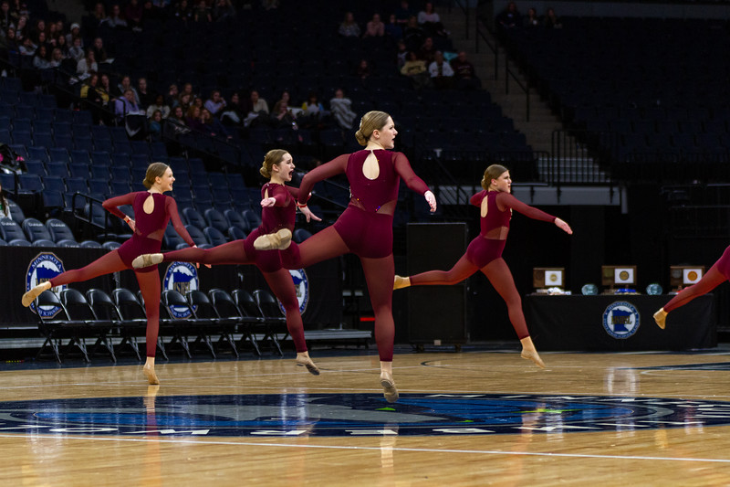 Holy Family Dance Team at 2020 MSHSL State Jazz Tournament Final - Collin Nawrocki/The Phoenix