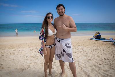 Lanikai Beach with Kei