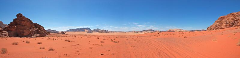 Panorama of Wadi Rum in Jordan