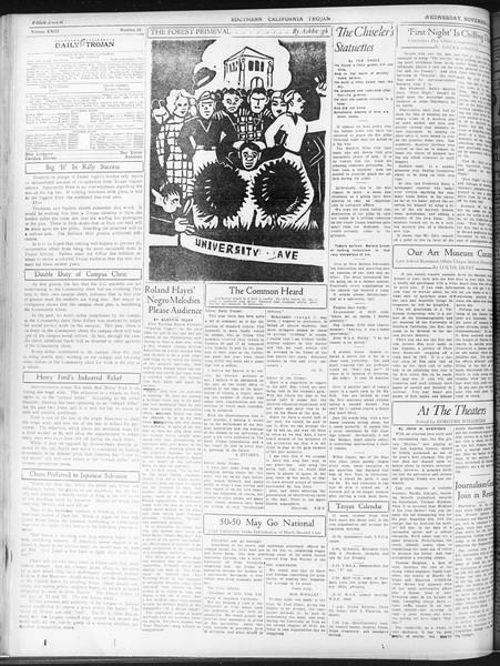 Daily Trojan, Vol. 23, No. 39, November 04, 1931