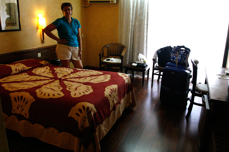 Our room at Le Mandarin was quite nice, and the staff there was friendly.  Nice to be 2 blocks from the ship and La Marche.