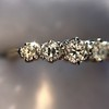 0.48ctw Vintage Transitional Cut Diamond 5-stone Band 14