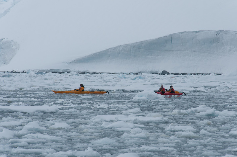Kayaking in Pleneau Bay, Antarctica