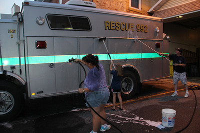 Cleaning Truck, Rescue Squad, Tamaqua (8-22-2013)
