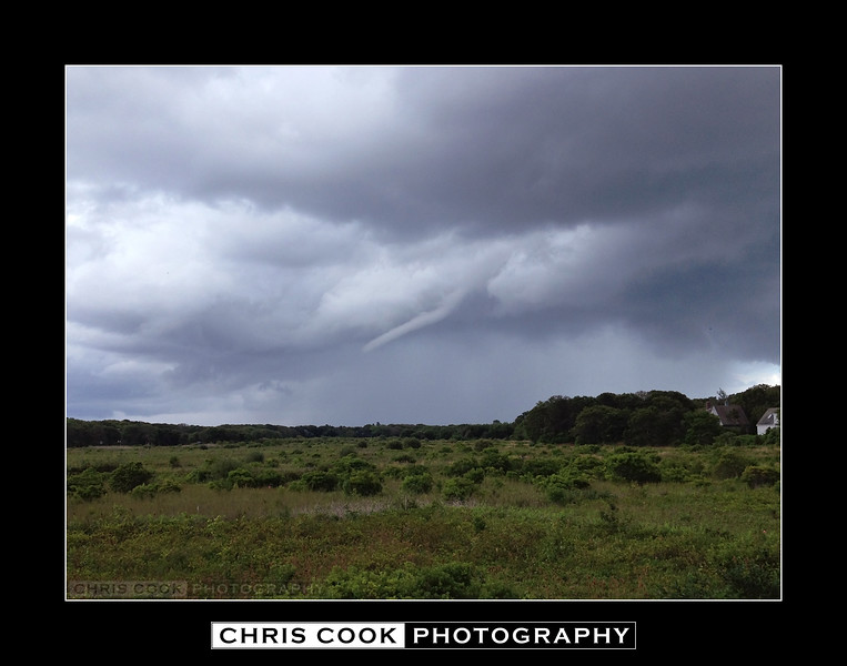 Funnel cloud over Chatham from Bank St. in Harwich