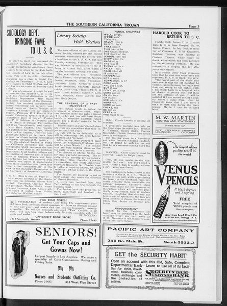 The Southern California Trojan, Vol. 10, No. 4, March 04, 1919