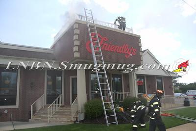 Massapequa F.D. Building Fire Friendlys on Sunrise Hwy 7-21-11