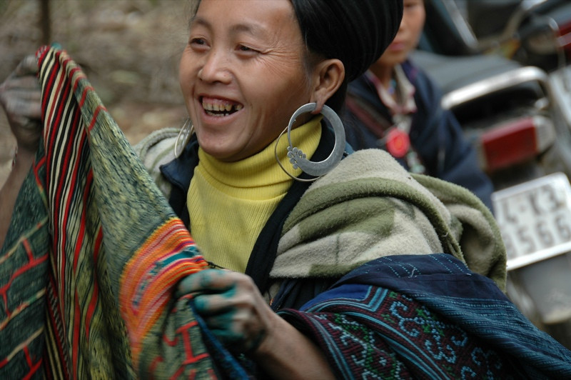 Woman Selling Embroidered Items - Sapa, Vietnam